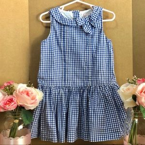 ⬇️$59 Janie and Jack Bow Gingham Dress 2T